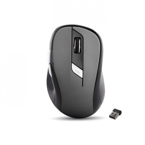 Everest SM-245D Gri Optik Nano Receive Kablosuz Mouse