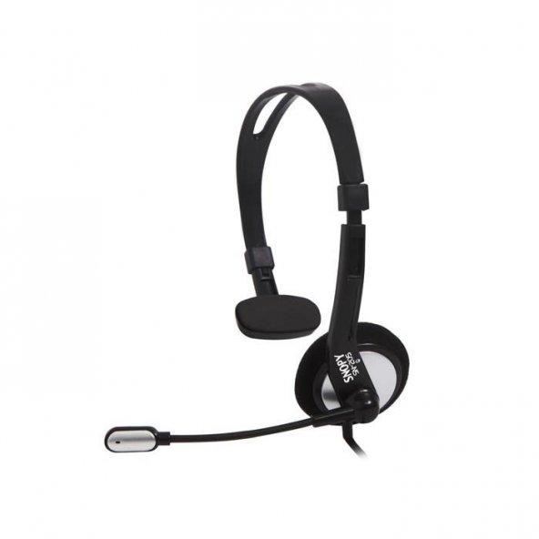 Snopy SN-205 Multimedia Siyah Mikrofonlu Kulaklık