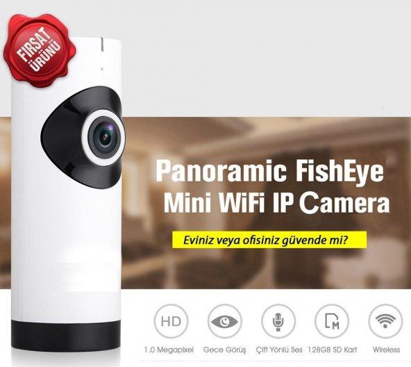 Bebek Kamerası 180° Panaromik HD Wifi Kablosuz IP