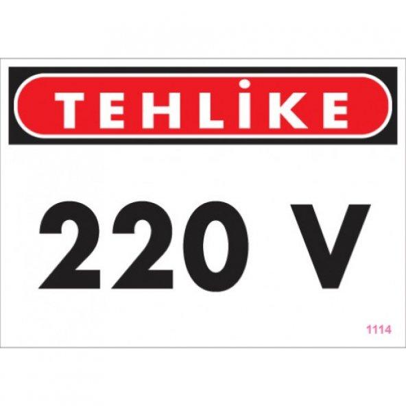 Pvc Levha - tehlike 220 V