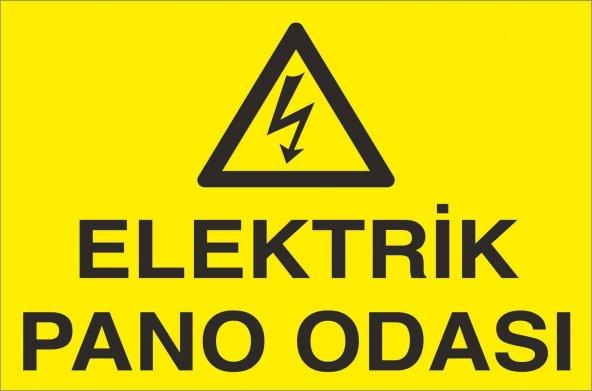 Pvc iş güvenliği levhası - elektrik pano odası
