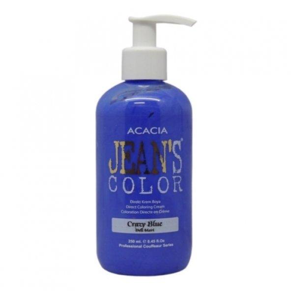 Jeans Color - Su Bazlı Amonyaksız BOYA 250 ML DELİ MAVİ