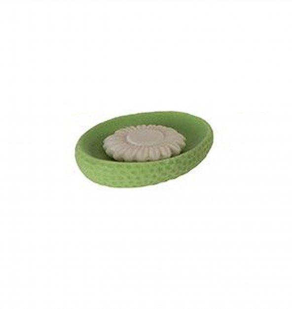 Sabunluk Yeşil Petek Desenli Banyo Aksesuarı