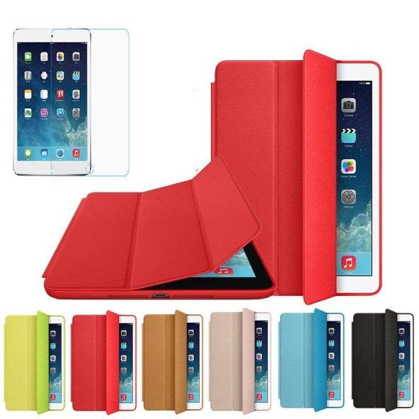 iPad Pro 9.7 Kılıf Smart Stand ve Uyku Modlu Kırılmaz Cam