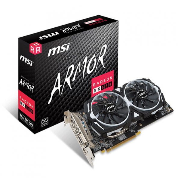 MSI AMD 8GB RX 580 ARMOR 8G OC GDDR5 256 Bit