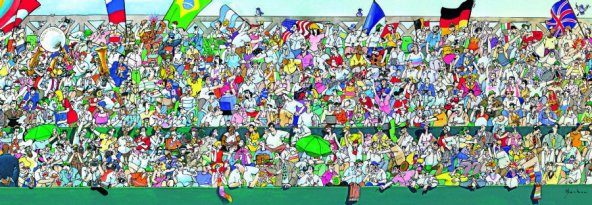 Heye Spor Hayranları Puzzle - 1000 Parça Panorama