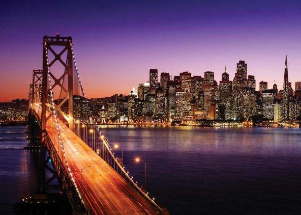 Ks Games 500 Parça San Francisco Köprüsü ve Günbatımı Puzzle