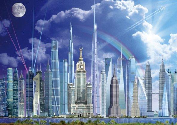 Educa 1000 Parça Puzzle Tall Buildings