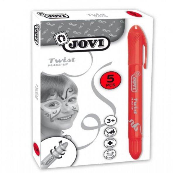 Jovi Twist Stick 5li KIRMIZI Yüz Boyama Kalemi