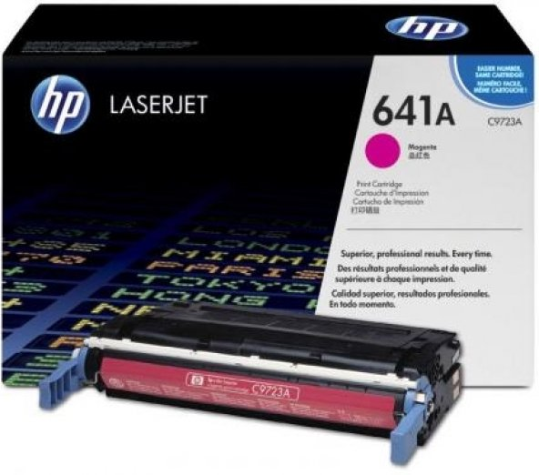 HP C9723A 641A 4600/4650 KIRMIZI ORJİNAL TONER 8.000 SAYFA