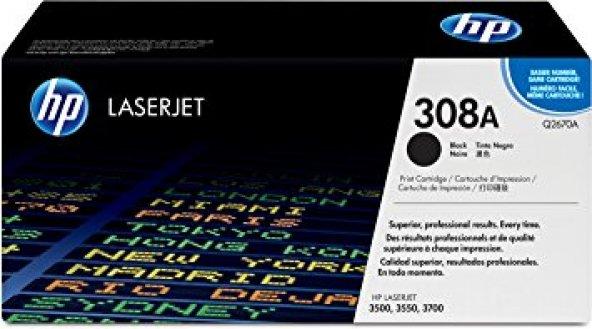 HP Q2670A (308A) 3500/3550/3700 SİYAH TONER ORJİNAL 6.000 SAYFA