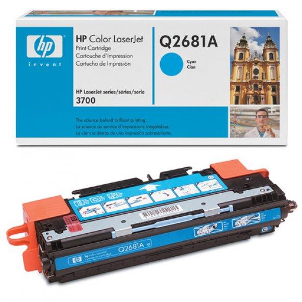HP Q2681A (311A) 3700 SERİSİ MAVİ TONER ORJİNAL 6.000 SAYFA