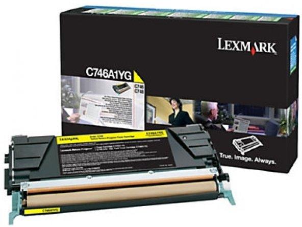 LEXMARK C746A1YG C746/C748 SARI TONER ORJİNAL 7.000 SAYFA