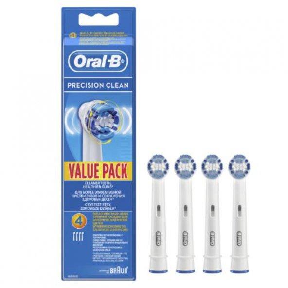 Oral-B Diş Fırçası Yedek Başlığı Precision Clean 4 adet