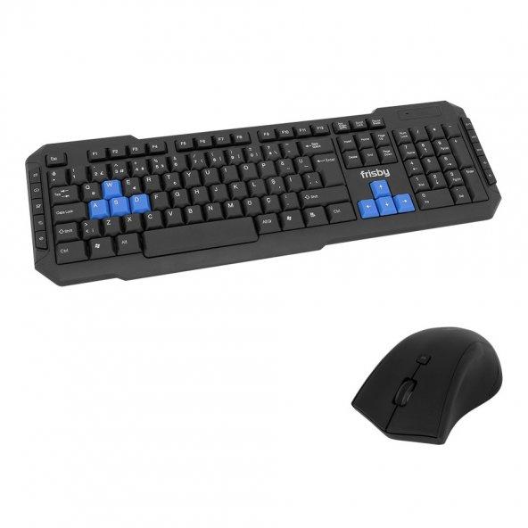 Frisby FK-WG54QU Tek Nano Alıcılı Kablosuz Gaming Oyuncu Klavye Mouse Set Koruyucu Silikon Kılıf Hediyeli