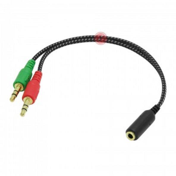 Frisby FA-6624AC Kulaklık Ses Mikrofon Ayırıcı Dönüştürücü Çoklayıcı Kablo