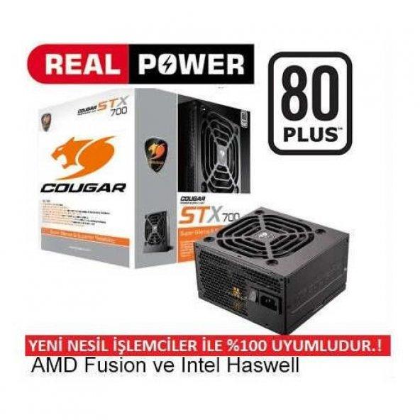 COUGAR STX-700 700W 80 Plus Bilgisayar Güç Kaynağı Power Supply PSU Orjinal COUGAR Marka
