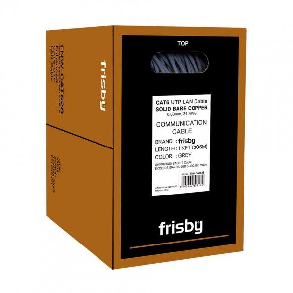 Frisby FNW-CAT628 CAT6 305m SAF BAKIR Gigabit Network İnternet Kablosu Yüksek Kalite LAN Kablo