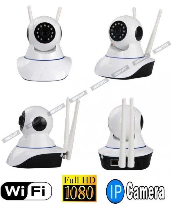 Babycam 2 Anten FullHD Wifi Kablosuz IP Güvenlik Bebek Kamerası