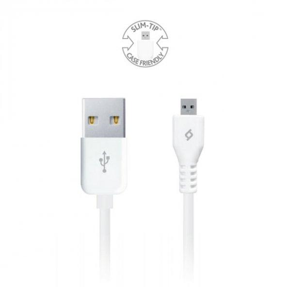 Ttec Micro Usb - Android Cihazlar için Şarj/Senkronizasyon Kablosu 2DK7510B,Beyaz
