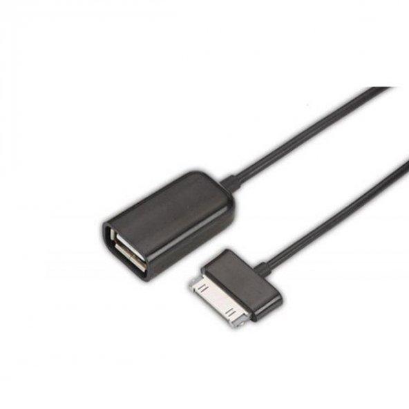 Ttaf Samsung 30 Pin Konnektör USB 2.0 OTG Dişi Kablo Beyaz