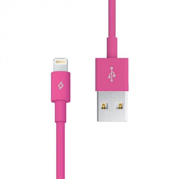 Ttec Lightning-USB - iPhone için Şarj/Senkronizasyon Kablosu 2DK7508P,Pembe