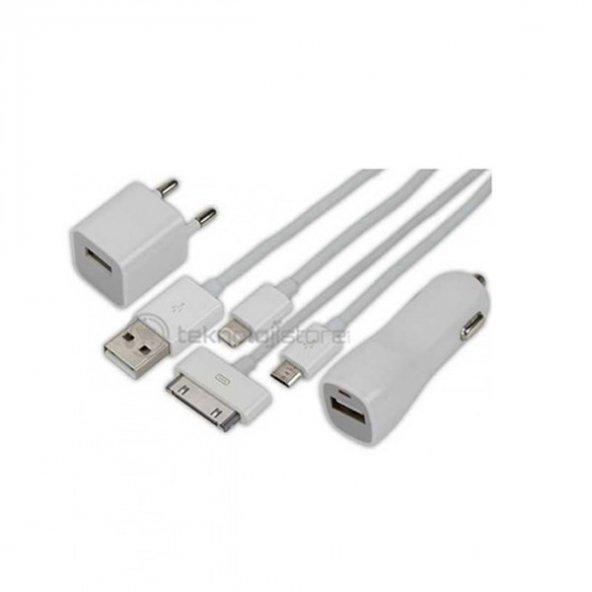Ttaf iPhone Multi Şarj Kiti iPhone 5 Uyumlu Araç Şarjı İle Birlikte 54115