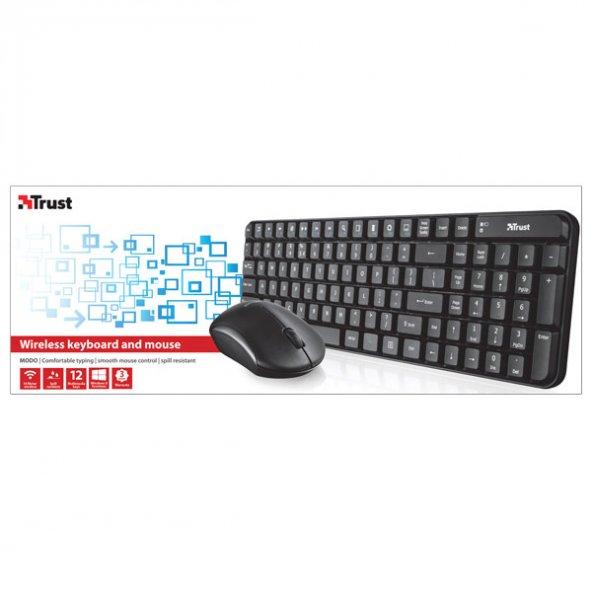 Trust 20566 Modo Wıreless Klavye Mouse&ampSet