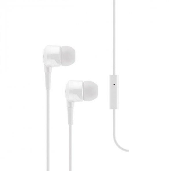 Ttec J10™ Mikrofonlu Kulakiçi Kulaklık 3.5mm 2KMM10B,Beyaz