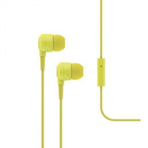 Ttec Mikro Mikrofonlu Kulaklık Joy (MKRN) 3.5 mm Standart Jack 2KMM1007S,Sarı