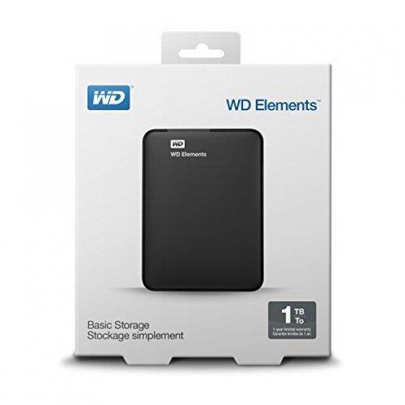 WD Elements 1TB WDBUZG0010BBK USB 3.0 2.5 Taşınabilir Harici HDD