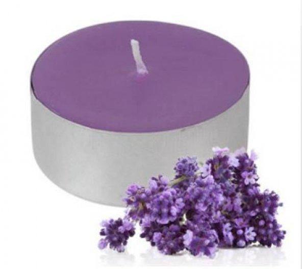 10 Adet Mor (kokulu mum) tealight Romantik