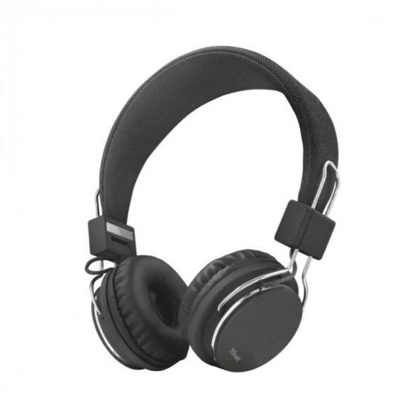 Trust 21821 Ziva Spor Mikrofonlu Kafa Bantlı Kulaklık,Siyah
