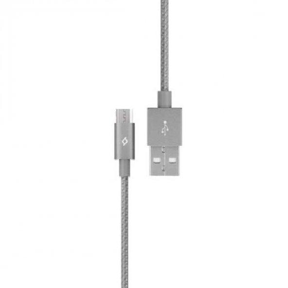 Ttec AlumiCable™ - Android Cihazlar için Şarj/Senkronizasyon Kablosu 2DK11UG,Gri