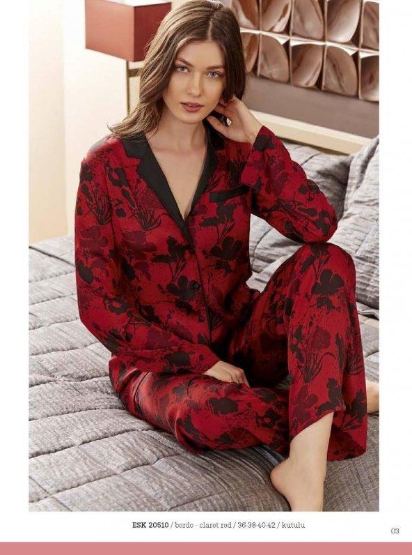 Eros 20510 Bayan Saten Pijama Takımı