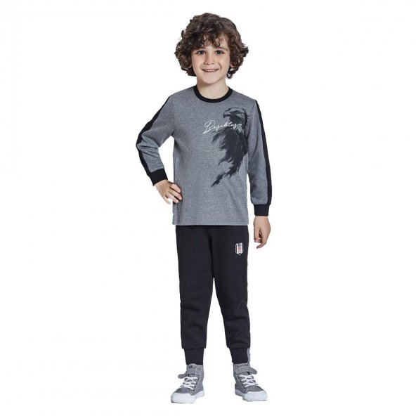 Roly Poly 9303 Lisanslı Beşiktaş Garson Boy Pijama Takımı