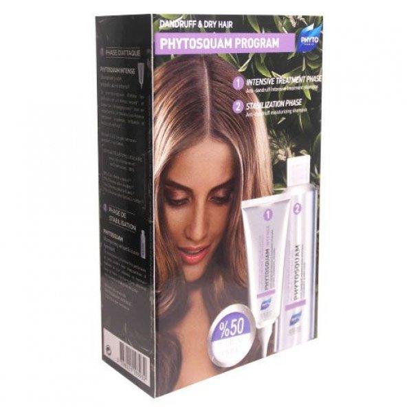 Phyto Phytosquam Anti-Dandruff Shampoo Kuru Saçlar SET / 2.Ürün 50 İndirimli