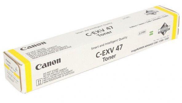 CANON EXV-47Y C1225f/C250/350 SARI TONER ORJİNAL 21.500 SAYFA