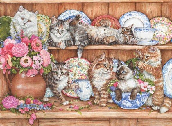 Puzzle 1000 Parça / Yavru Kediler / Kittens