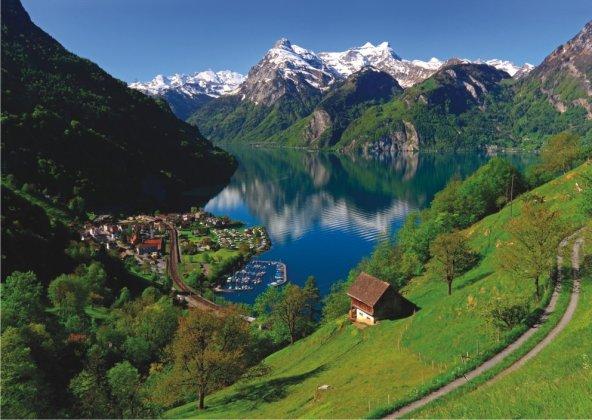 Puzzle 1500 Parça / Lake Lucerne Switzerland (Anatolian)