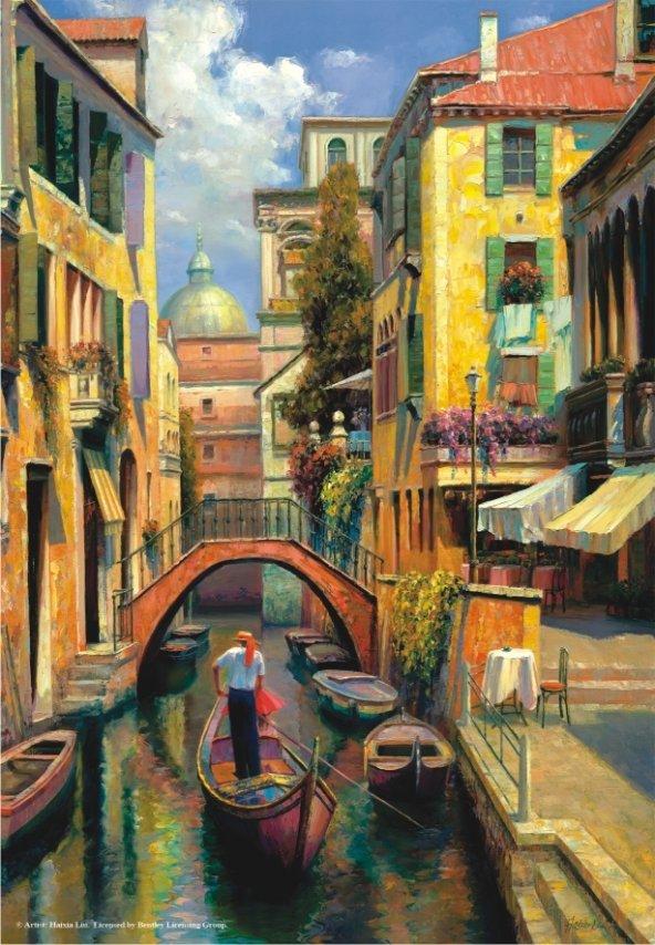 Puzzle 500 Parça / Venedikte Pazar / Sunday in Venice