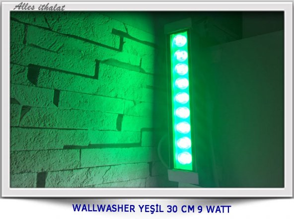 wallwasher yeşil 30 cm 9 watt