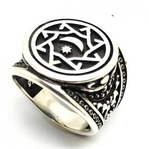 925 Ayar Gümüş Payitaht Abdülhamid Teşkilat Yüzüğü Yüzük
