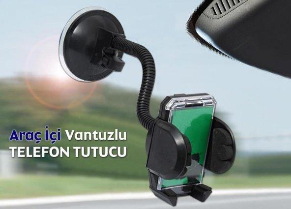 AutoEN Araç İçi Telefon Tutucu: Güçlü Kilit Vantuzlu Akrobatik Gövde 8011697