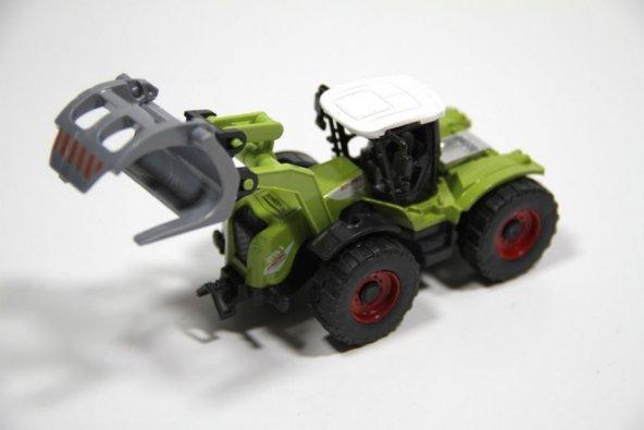 Çek Bırak Oyuncak Traktör/İş Makinesi (Tomruk Yükleme)
