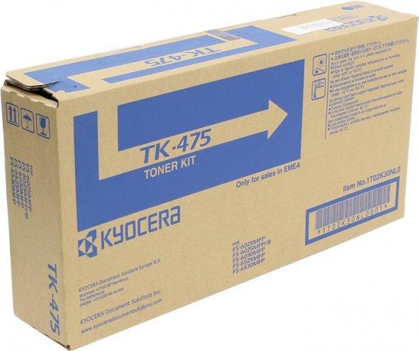 KYOCERA TK-475 FS6025/6030/6525/6530 SİYAH TONER ORJİNAL 15K SYF