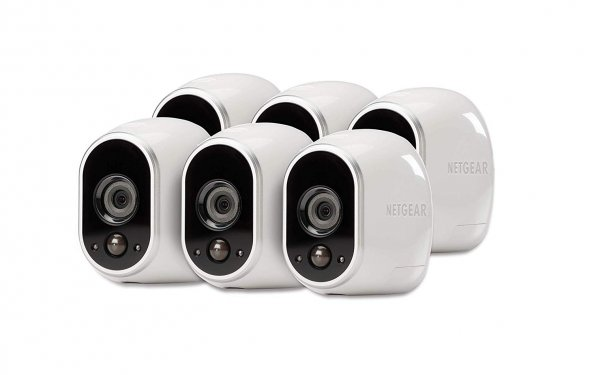 Netgear Arlo Security System - 6 Wire-Free Hd Night Vision - Brow