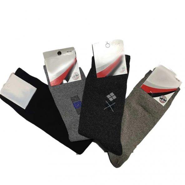 12li Paket Mevsimlik Ekonomik Kışlık Erkek Uzun Çorap