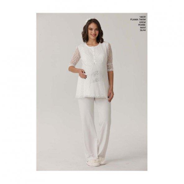 Aqua 18039 Bayan Lohusa Pijama Takımı