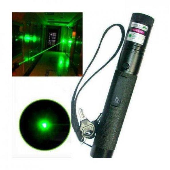 Yeşil Lazer Pointer Şarjlı Kilitli Zoom Yakıcı 1000mW